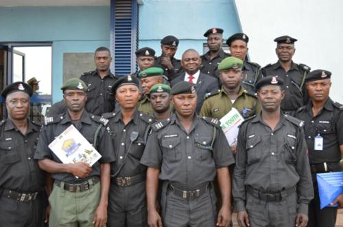 Cross section of some of the participating officers