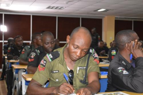 Cross section of some officers