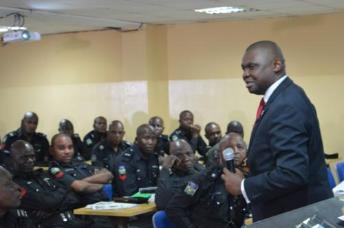 Mister Motivator addressing them on the eagle cop