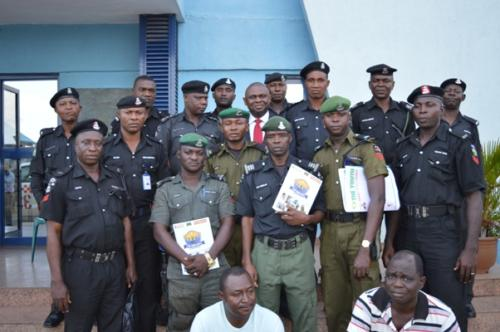 cross section of some participating officers