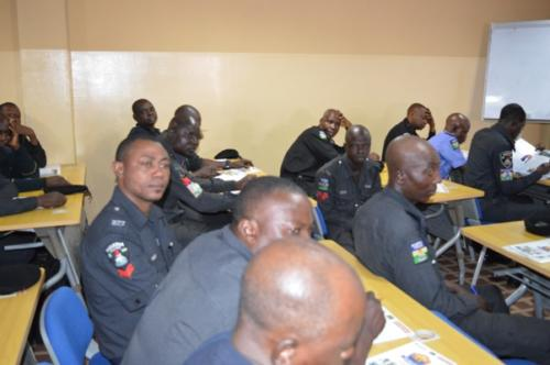 Cross section of some of the officers