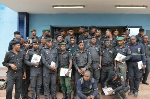 Group photograph of officers