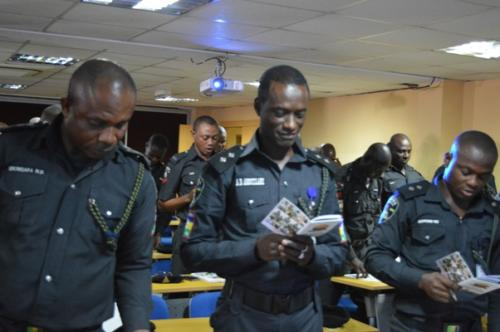 Officers making declaration to be better police officers