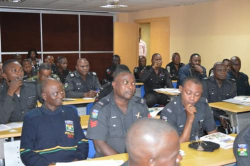 Some of the officers during training