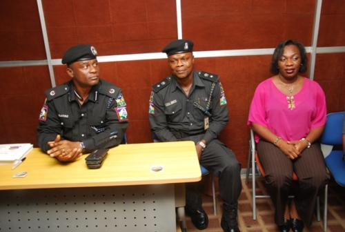 DCP Disu and other top officers during the training