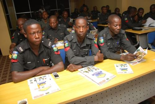 Some of the officers during the training