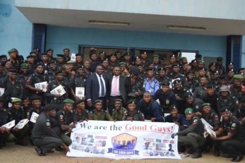 Group photograph at the end of the training