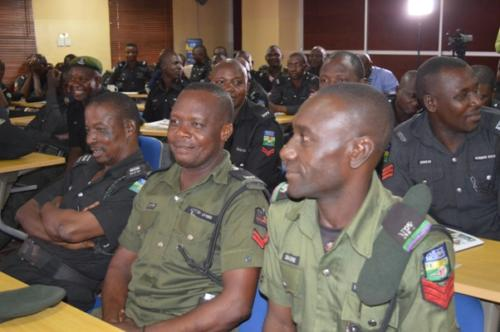 Some o the officers during the training